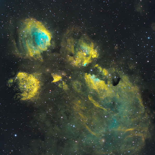NGC 6334 cars paw nebula in SHO