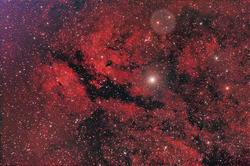 Gamma Cygni nebula from light polluted los angeles