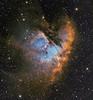 NGC 281 pac man nebula SHO Hubble Palette