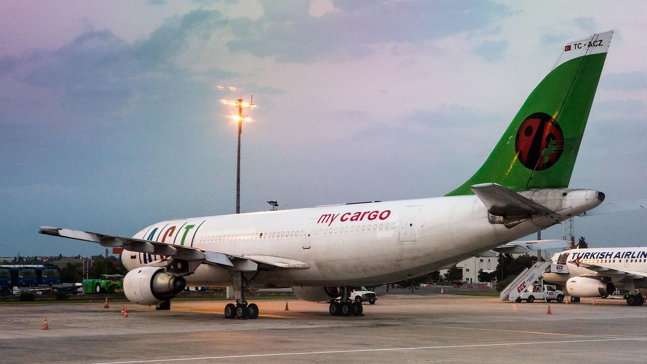 Cargo Airbus A300, Ataturk Airport, Istanbul Turkey.