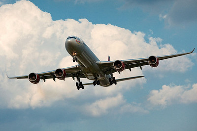 Virgin Atlantic Airbus A340-600. Heathrow 2009.