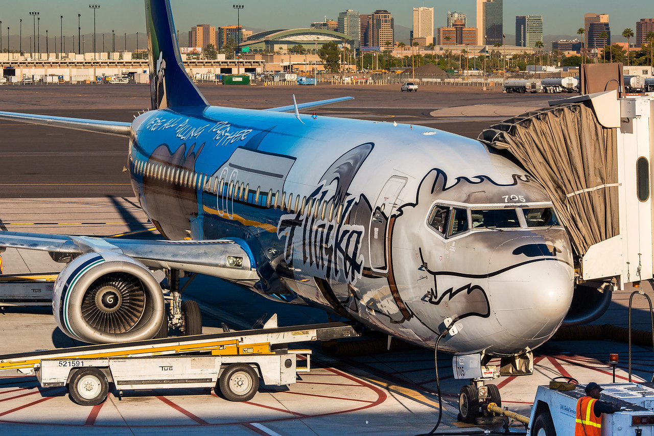 Alaska Airlines special livery.