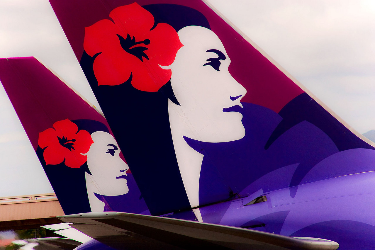 Hawaiian Air has one of the more beautiful and pleasant looking tail schemes.