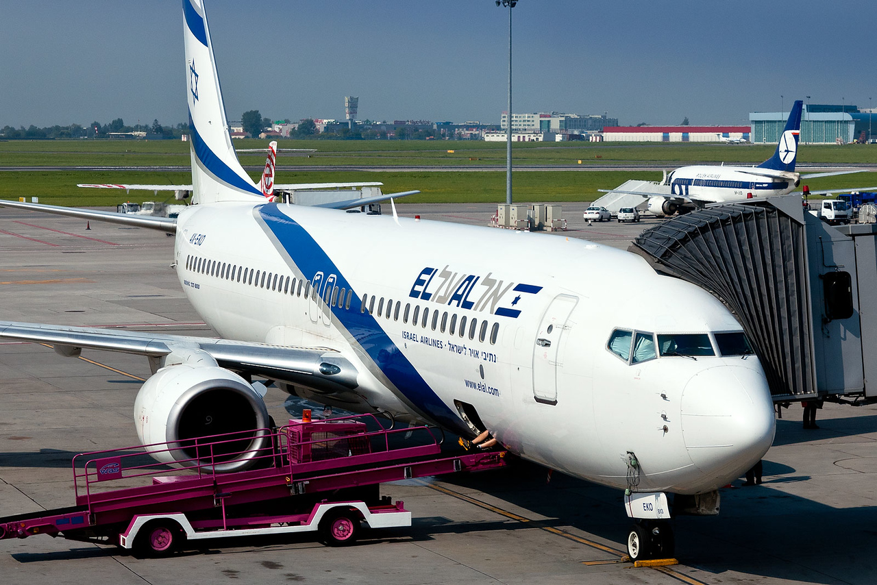 An unusual visitor to Warsaw, Poland, a gorgeous El Al 737-800. When taking a photo of any EL AL aircraft, know one thing, you will be approached by El AL security.