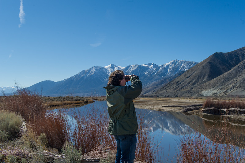 Our friend Lorenzo with the Carson River and Jobs Peak in the Eastern Sierra as a backdrop. Looking for eagles!!