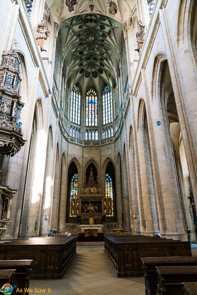 Aisle in St. Barbara's Cathedral