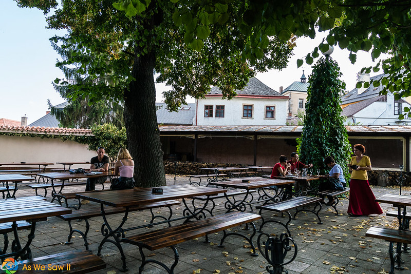 Patio at Restaurant Dacicky, Kutna Hora, Czech Republic