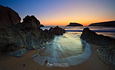 Atrapada, Playa de Arnía, Cantabria