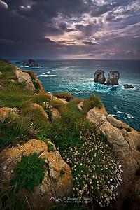 Aguardando la tomermenta, Costa quebrada, Cantabria