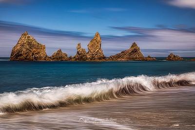 The wave, , Playa de Fabrega, La Coruña, Galicia