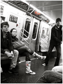 Students on the Subway