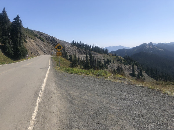 Obstruction Point Road paralleling the paved road