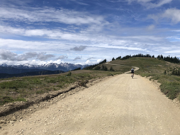 Riding the ridge back to the paved road