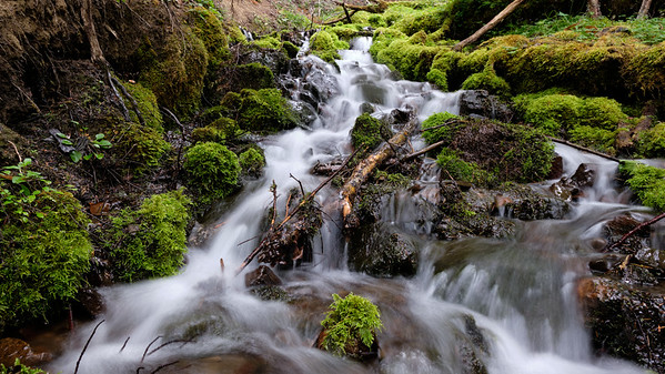 One of the many small waterfalls in the streams