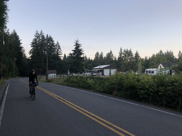 Ryan in the early morning on Port Gamble Road