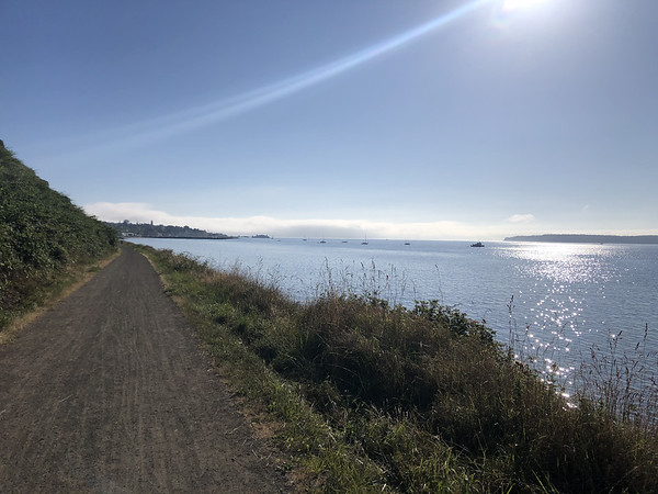 The gravel trail along the water into Port Townsend