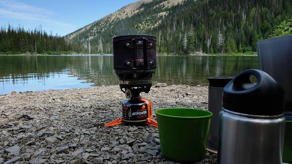 Lakeside coffee
