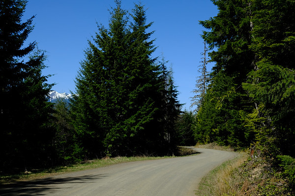Sunny skies, warm temps, gravel, and mountain views...