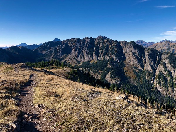 Trail on Mt Townsend summit