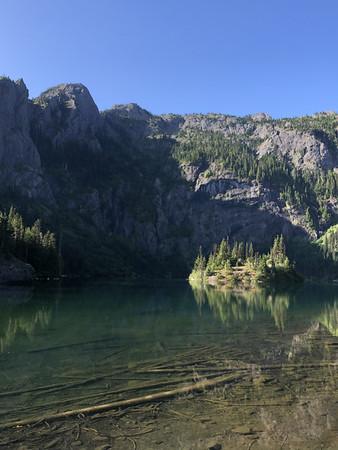 Lake Angeles and a tiny island