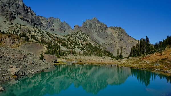 Reflections on the upper tarn
