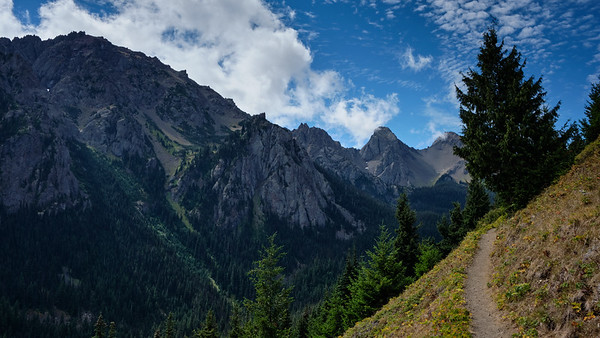 Iron Mountain in the distance on the way to Marmot Pass