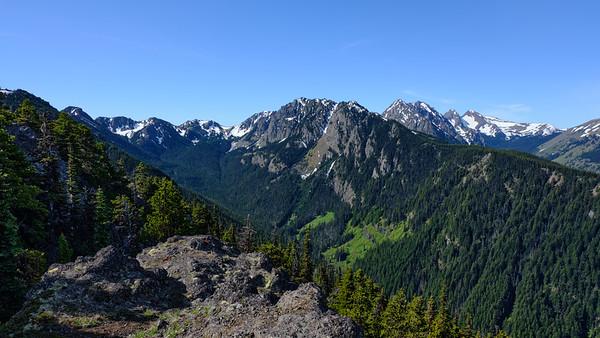 Mountain meadows across the valley
