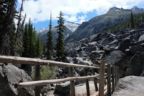 Bridge to the boulder field