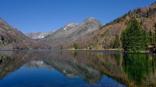 Reflections on Eightmile Lake