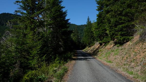 Climbing the asphalt to Bon Jon Pass