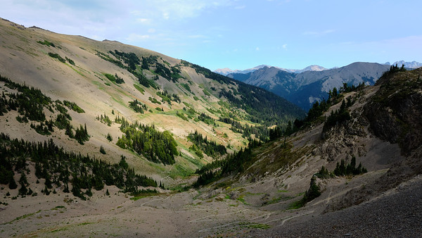 Switchbacks leading up from Badger Valley