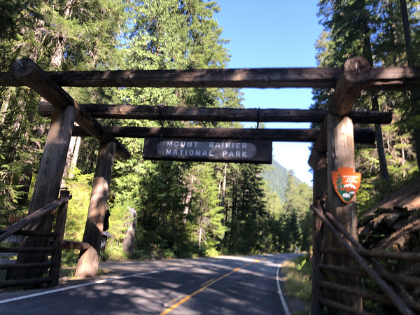 Leaving Highway 12 and entering the Rainier National Park