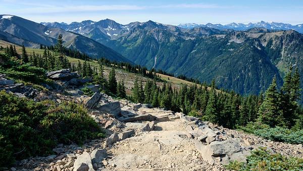 Impressive stone work on the Lillian Ridge trail