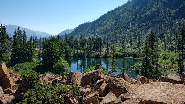 Boulder field above Lower Eightmile Lake