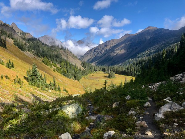 View down into the upper meadow valley