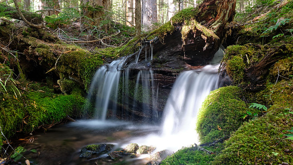 Small double waterfall