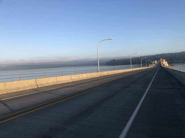 The Hood Canal Bridge all to ourselves
