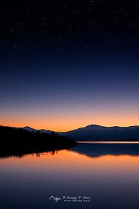 Cielo estrellado sobre Peñalara