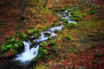 Aguas de otoño. Circo de Lescun, P.N. de los Pirineos, Francia