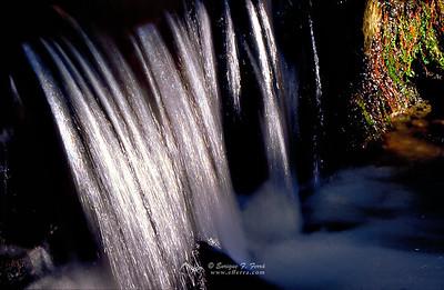 Salto de agua en el valle de la Fuenfría