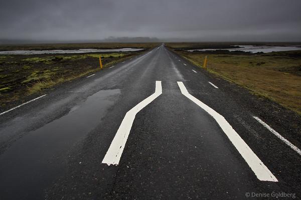 one-lane bridge along Iceland's Ring Road