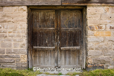 Door of Historical Whipple Company Store, Built 1890 by Coal Baron Justus Collins, Fayette County, West Virginia
