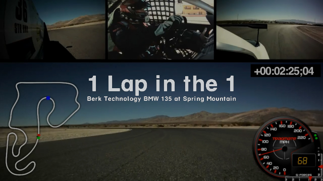 1 Lap in the 1 - Berk Technology BMW 135i @ Spring Mountain Motorsports Ranch