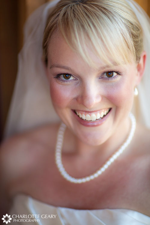 Bride with pearls