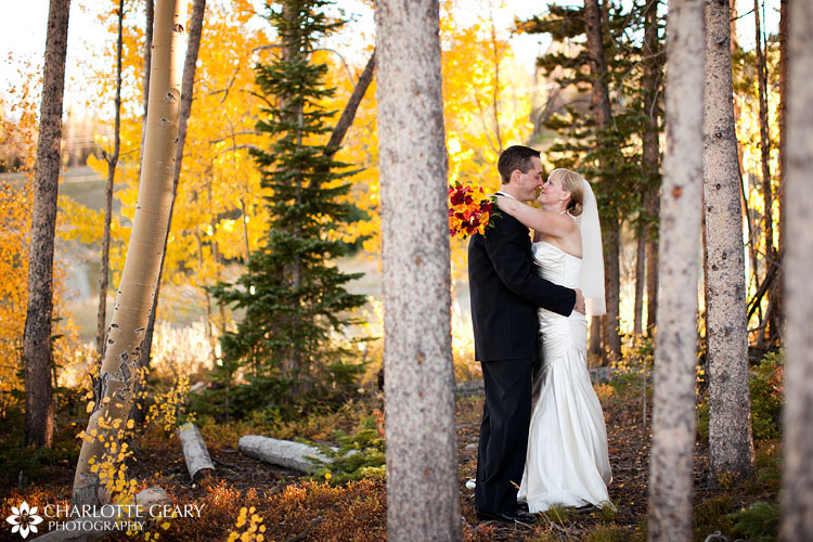 Fall mountain wedding