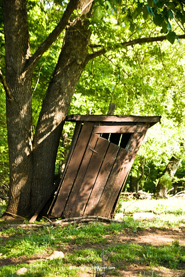 Leaning Outhouse, Patrick County, Virginia