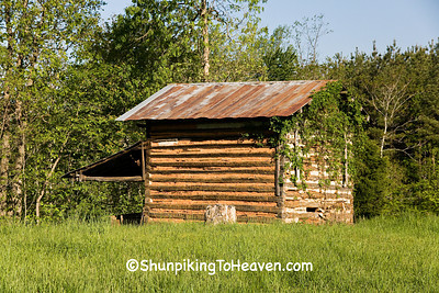 Log Tobacco Barn, Stokes County, North Carolina