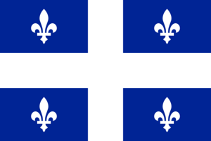 The Quebec flag.