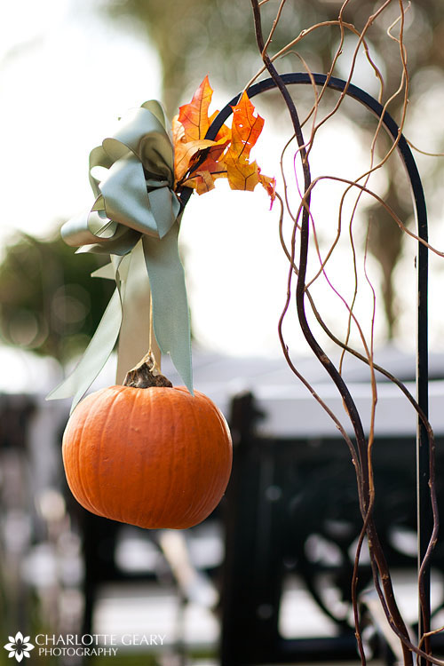 Pumpkin wedding ceremony decoration