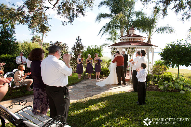 Wedding ceremony at Town Manor in Florida
